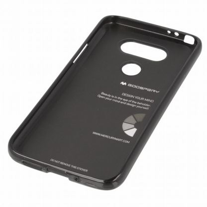 Mercury Goospery Jelly Case - силиконов (TPU) калъф за LG G5 (черен) 2