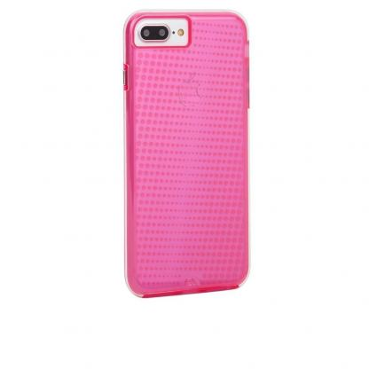 CaseMate Naked Tough Translucent Case - кейс с висока защита за iPhone 7 Plus, iPhone 6S Plus, iPhone 6 Plus (розов)