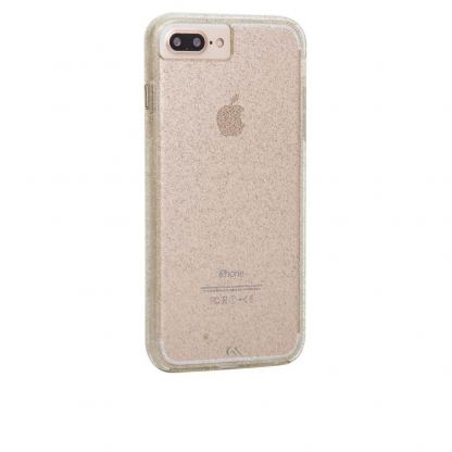 CaseMate Naked Tough Sheer Glam Case - кейс с висока защита за iPhone 7 Plus, iPhone 6S Plus, iPhone 6 Plus (златист)