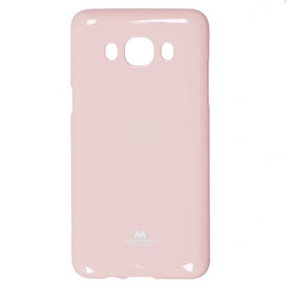 Mercury Goospery Jelly Case - силиконов (TPU) калъф за Samsung Galaxy J5 (2016) (светлорозов)