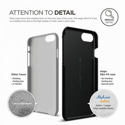 Elago S7 Slim Fit 2 Case + HD Clear Film - поликарбонатов кейс и HD покритие за iPhone 7, iPhone 8 (черен-мат) 5