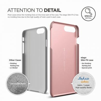 Elago S7 Slim Fit 2 Case + HD Clear Film - поликарбонатов кейс и HD покритие за iPhone 7 Plus (розово злато) 3