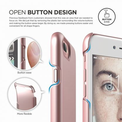 Elago S7 Slim Fit 2 Case + HD Clear Film - поликарбонатов кейс и HD покритие за iPhone 7 Plus (розово злато) 6