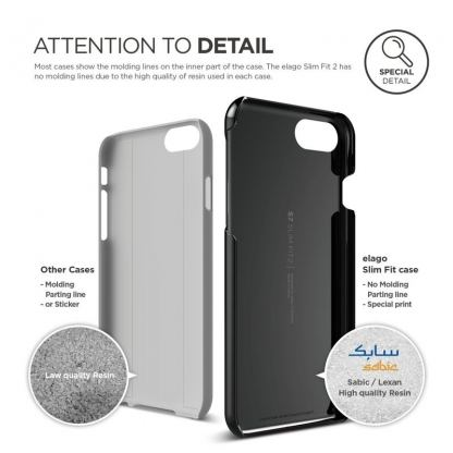 Elago S7 Slim Fit 2 Case + HD Clear Film - поликарбонатов кейс и HD покритие за iPhone 7 (черен-лъскав) 5