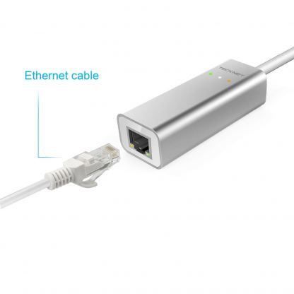 TeckNet TE001 USB-C with Ethernet Adapter - адаптер USB-C към Ethernet за компютри с USB-C порт 2