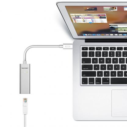 TeckNet TE001 USB-C with Ethernet Adapter - адаптер USB-C към Ethernet за компютри с USB-C порт