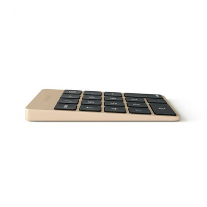 Satechi Slim Aluminum Wireless Keypad - безжична Bluetooth клавиатура с 18 бутона за MacBook (златиста) 7