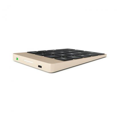 Satechi Slim Aluminum Wireless Keypad - безжична Bluetooth клавиатура с 18 бутона за MacBook (златиста) 6