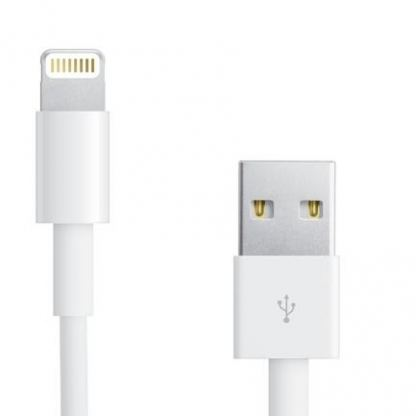 Apple Lightning to USB Cable 0.5m. - оригинален USB кабел за iPhone 5/5S/SE/5C, iPhone 6/6S, 6/6S plus, iPad 4, Air, Air 2, iPad Pro, iPad mini, iPod Touch 5, iPod Nano 7 0.5м (bulk)