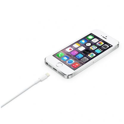 Apple Lightning to USB Cable 0.5m. - оригинален USB кабел за iPhone 5/5S/SE/5C, iPhone 6/6S, 6/6S plus, iPad 4, Air, Air 2, iPad Pro, iPad mini, iPod Touch 5, iPod Nano 7 0.5м (bulk) 6