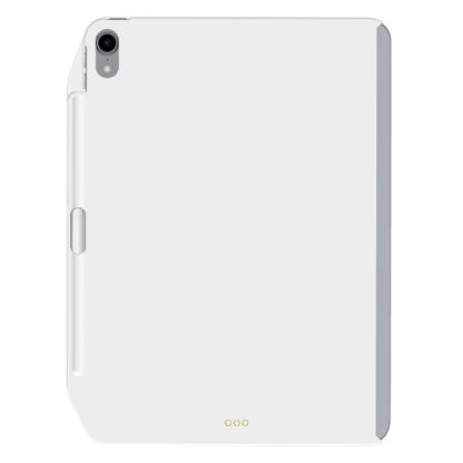 SwitchEasy CoverBuddy Case - поликарбонатов кейс с отделение за Apple Pencil 2, за iPad Pro 12.9 (2018) (съвместим с Apple Smart Keyboard, Smart Folio) (бял)