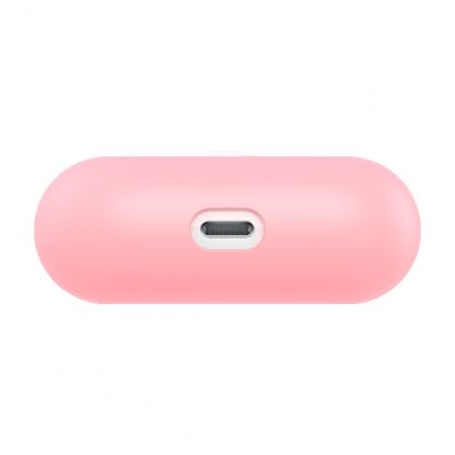 SwitchEasy Colors Duo Caps Case - силиконов калъф за Apple Airpods Pro (розов-светлосин)  5