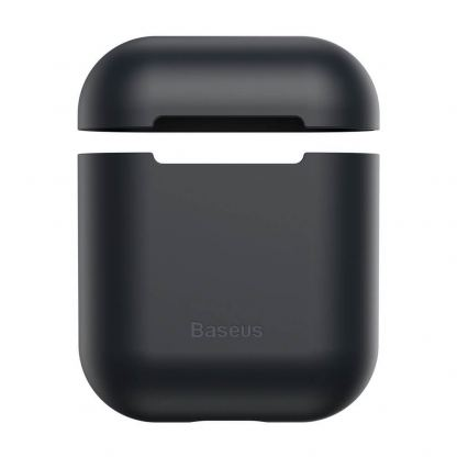 Baseus Super Thin Silica Gel Case - силиконов калъф за Apple Airpods & Apple Airpods 2 (черен) 2