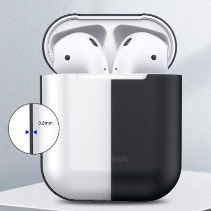 Baseus Super Thin Silica Gel Case - силиконов калъф за Apple Airpods & Apple Airpods 2 (черен) 8