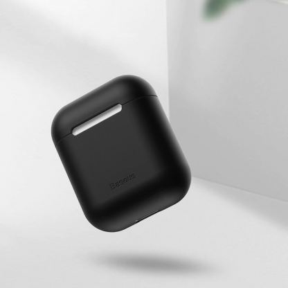 Baseus Super Thin Silica Gel Case - силиконов калъф за Apple Airpods & Apple Airpods 2 (черен) 10