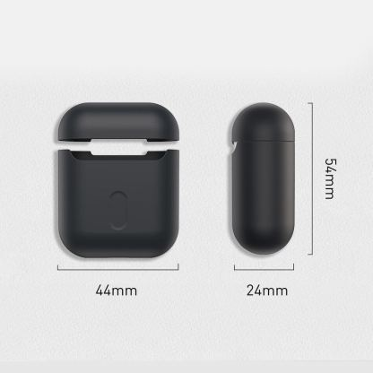 Baseus Super Thin Silica Gel Case - силиконов калъф за Apple Airpods & Apple Airpods 2 (черен) 11