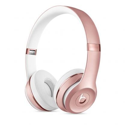 Beats Solo 3 Wireless On-Ear Headphones - професионални безжични слушалки с микрофон и управление на звука за iPhone, iPod и iPad (розово злато)