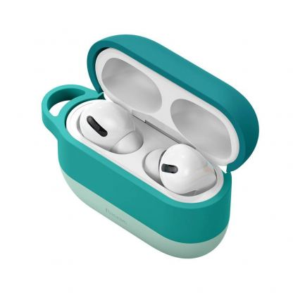 Baseus Cloud Hook Silica Gel Case - силиконов калъф за Apple Airpods Pro (зелен) 5