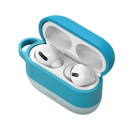 Baseus Cloud Hook Silica Gel Case - силиконов калъф за Apple Airpods Pro (син) 5