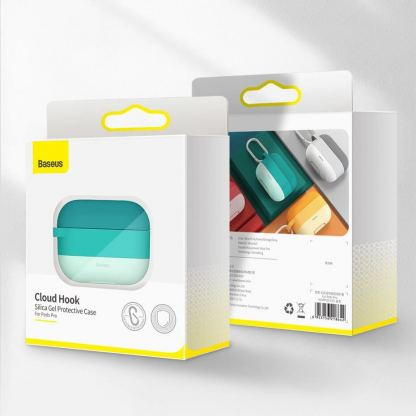 Baseus Cloud Hook Silica Gel Case - силиконов калъф за Apple Airpods Pro (син) 7