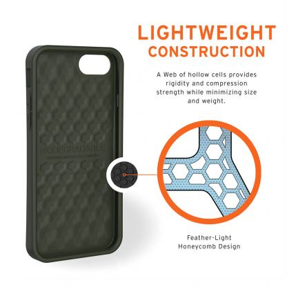Urban Armor Gear Biodegradeable Outback Case - удароустойчив рециклируем кейс за iPhone SE (2020), iPhone 8, iPhone 7 (зелен) 4