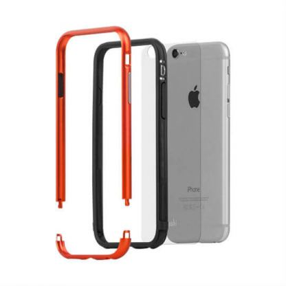 Moshi Luxe Bumper Case - метален бъмпер и покритие за задната част за iPhone 6, iPhone 6S (оранжев) 2