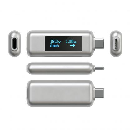 Satechi USB-C Power Meter - уред измерване на ампеража, волтаж и амперчасове за USB-C устройства 3