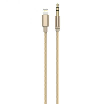 Devia Gracious Premium Lightning to 3.5mm. Audio Cable - качествен аудио кабел от Lightning към 3.5 мм. (златист)