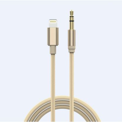 Devia Gracious Premium Lightning to 3.5mm. Audio Cable - качествен аудио кабел от Lightning към 3.5 мм. (златист) 2