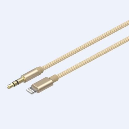 Devia Gracious Premium Lightning to 3.5mm. Audio Cable - качествен аудио кабел от Lightning към 3.5 мм. (златист) 3