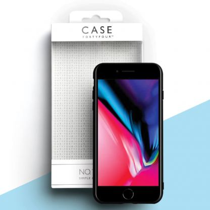 Case FortyFour No.1 Case - силиконов (TPU) калъф за iPhone SE (2020), iPhone 8, iPhone 7 (черен) 3