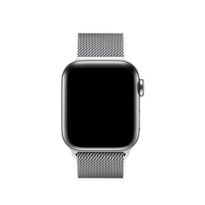 Tactical 344 Milanese Loop Magnetic Stainless Steel Band - стоманена, неръждаема каишка за Apple Watch 42мм, 44мм (сребрист) 3