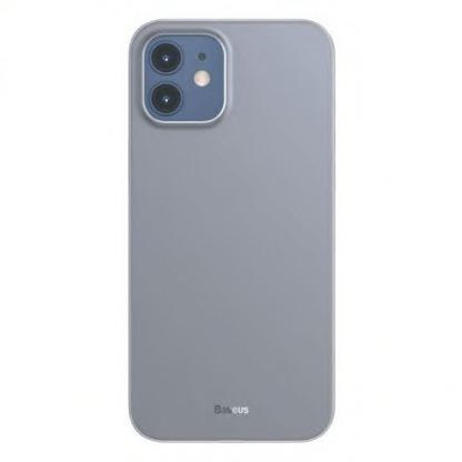 Baseus Wing case - тънък полипропиленов кейс (0.45 mm) за iPhone 12 mini (черен) 5
