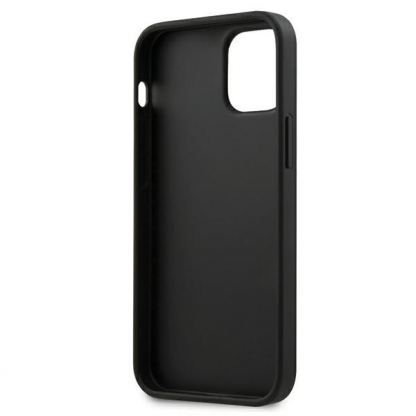 BMW M Collection PU Carbon Hard Case - кожен кейс за iPhone 12 mini (черен) 5