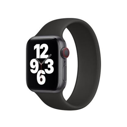 Sdesign Silicone SoloLoop Band - силиконова каишка за Apple Watch 42мм, 44мм (черен) 2