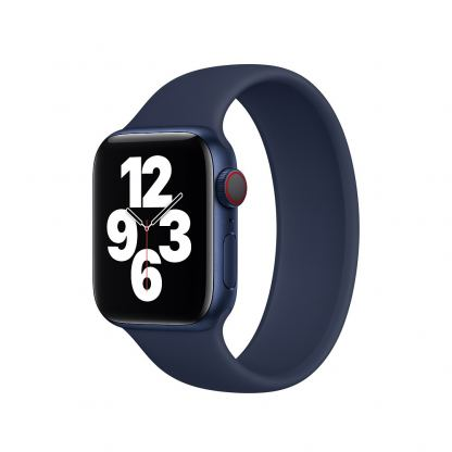 Sdesign Silicone SoloLoop Band - силиконова каишка за Apple Watch 38мм, 40мм (тъмносин) 2