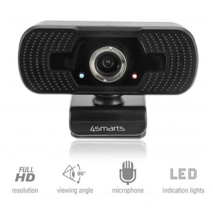 4smarts Webcam C1 Full HD with Microphone - уеб видеокамера 1080p Full HD с микрофон (черен)