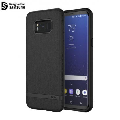 Incipio Classic Case Design Series - дизайнерски удароустойчив TPU кейс за Samsung Galaxy S8 Plus (черен)