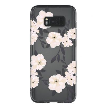 Incipio Classic Case Design Series - дизайнерски удароустойчив TPU кейс за Samsung Galaxy S8 Plus (сив-розов) 5