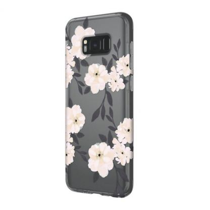 Incipio Classic Case Design Series - дизайнерски удароустойчив TPU кейс за Samsung Galaxy S8 Plus (сив-розов) 4