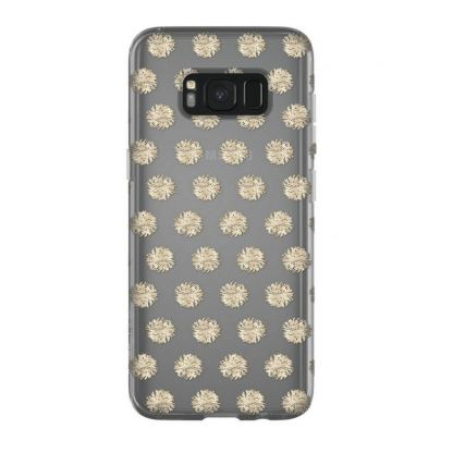 Incipio Classic Case Design Series - дизайнерски удароустойчив TPU кейс за Samsung Galaxy S8 (прозрачен-златист) 5