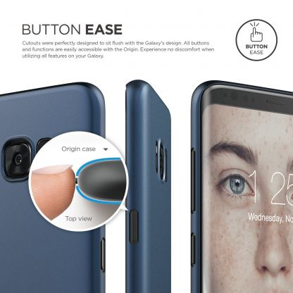 Elago Inner Core Case - тънък полипропиленов кейс (0.3 mm) за Samsung Galaxy S8 Plus (тъмносин) 3
