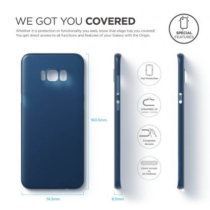 Elago Inner Core Case - тънък полипропиленов кейс (0.3 mm) за Samsung Galaxy S8 Plus (тъмносин) 7