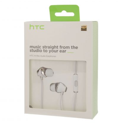 HTC Hi Res Headset MAX 310 - оригинални слушалки с микрофон за HTC смартфони (бял) 2