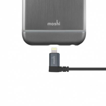 Moshi Lightning to USB Cable 90 degrees - USB кабел за iPhone 7, 7 Plus, 6/6S, 6/6S Plus, 5/5S/5C/SE, iPad, iPod и всички устройства с Lightning конектор (100 см) (черен) 4