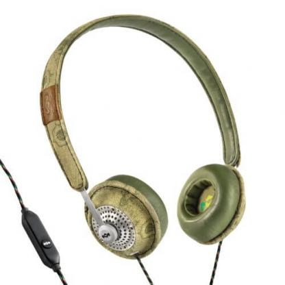 The House of Marley Haramble On-Ear Headphones - слушалки за iPhone, iPod и устройства с 3.5 мм изход (зелен) 2