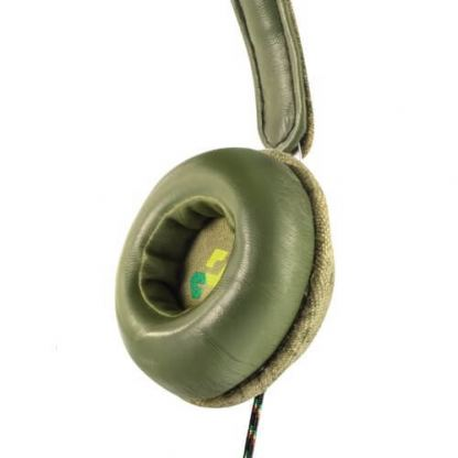 The House of Marley Haramble On-Ear Headphones - слушалки за iPhone, iPod и устройства с 3.5 мм изход (зелен) 4