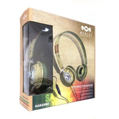 The House of Marley Haramble On-Ear Headphones - слушалки за iPhone, iPod и устройства с 3.5 мм изход (зелен) 6