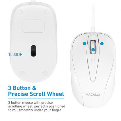 Macally Turbo Mouse - USB оптична мишка за PC и Mac 3