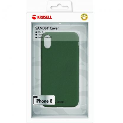 Krusell Sandby Cover - поликарбонатов кейс за iPhone X (зелен) 3